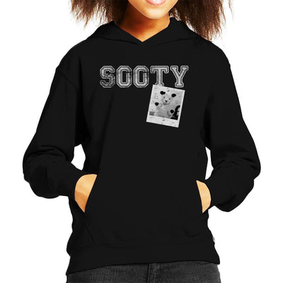 Sooty Retro College Sports Style Kid's Hooded Sweatshirt-Sooty's Shop