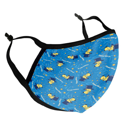 Sooty Adult Magic Hat Blue Print Face Mask-Sooty's Shop