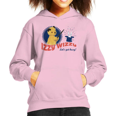 Sooty Retro Izzy Wizzy Let's Get Busy Kid's Hooded Sweatshirt-Sooty's Shop