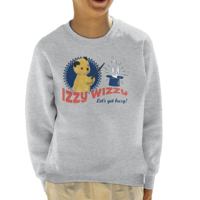 Sooty Retro Izzy Wizzy Let's Get Busy Kid's Sweatshirt-Sooty's Shop