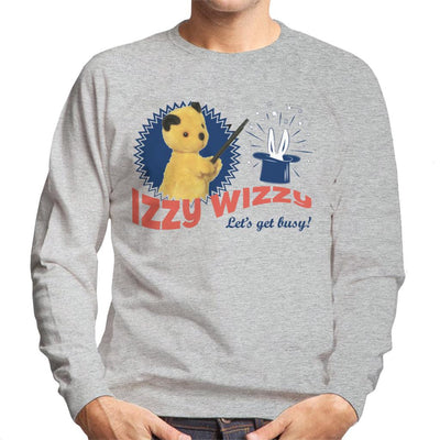 Sooty Retro Izzy Wizzy Let's Get Busy Men's Sweatshirt-Sooty's Shop