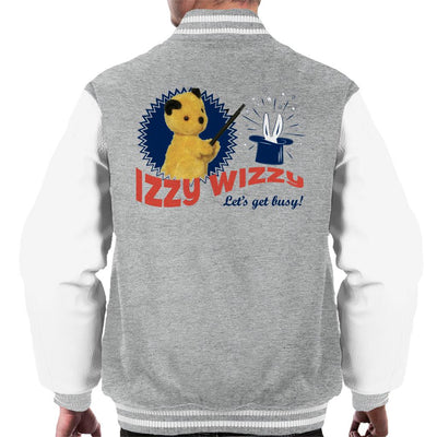 Sooty Retro Izzy Wizzy Let's Get Busy Men's Varsity Jacket-Sooty's Shop
