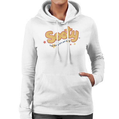 Sooty Text Logo Izzy Wizzy Women's Hooded Sweatshirt-Sooty's Shop