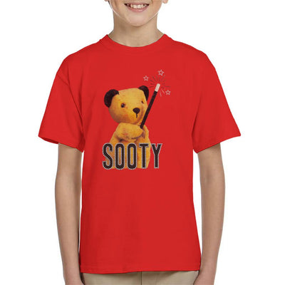 Sooty Retro Magic Wand Kid's T-Shirt-Sooty's Shop