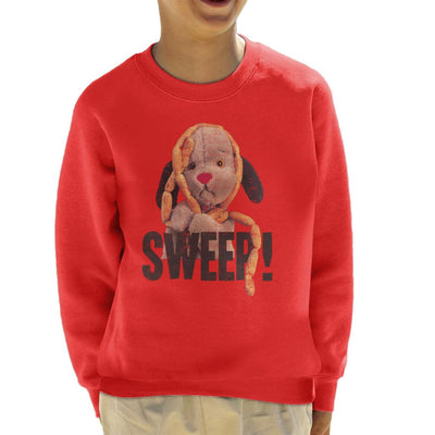 Sooty Sausages Sweep Distressed Kid's Sweatshirt-Sooty's Shop