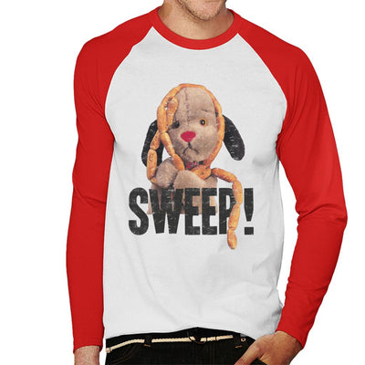 Sooty Sausages Sweep Distressed Men's Baseball Long Sleeved T-Shirt-Sooty's Shop