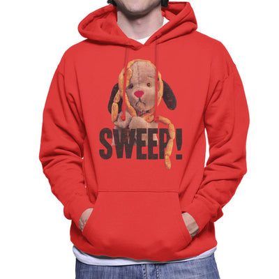 Sooty Sausages Sweep Distressed Men's Hooded Sweatshirt-Sooty's Shop