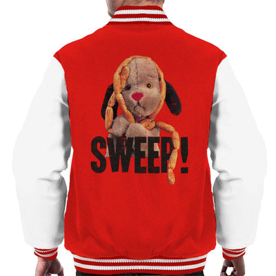 Sooty Sausages Sweep Distressed Men's Varsity Jacket-Sooty's Shop
