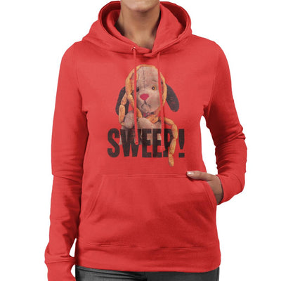 Sooty Sausages Sweep Distressed Women's Hooded Sweatshirt-Sooty's Shop