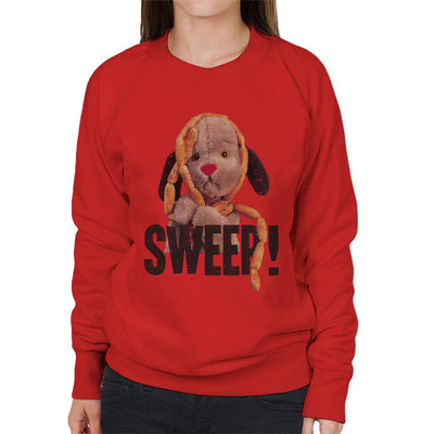 Sooty Sausages Sweep Distressed Women's Sweatshirt-Sooty's Shop