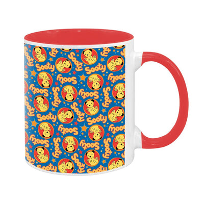 Sooty Classic Blue Print Pattern Two Colour Mug