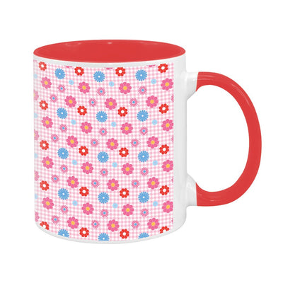 Sooty Flower Pattern Two Colour Mug