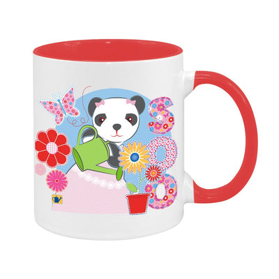 Sooty Soo Watering Flowers Two Colour Mug