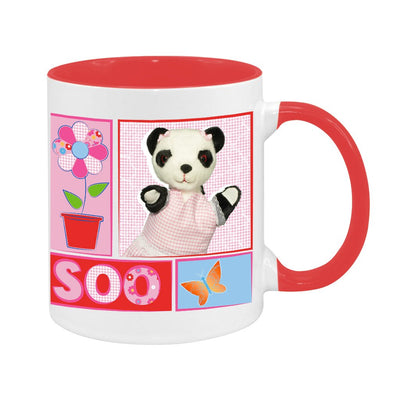 Sooty Soo Retro Floral Two Colour Mug