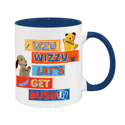 Sooty Izzy Wizzy Let's Get Busy Stacked Two Colour Mug
