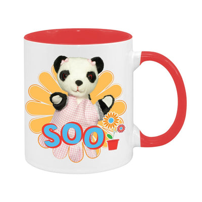 Sooty Soo Retro Flower Two Colour Mug