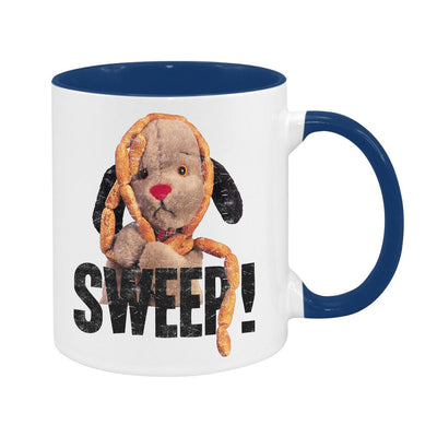 Sooty Sweep's Sausages Black Text Two Colour Mug