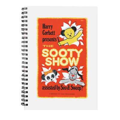 Sooty Show Retro Poster A5 Spiral Notebook