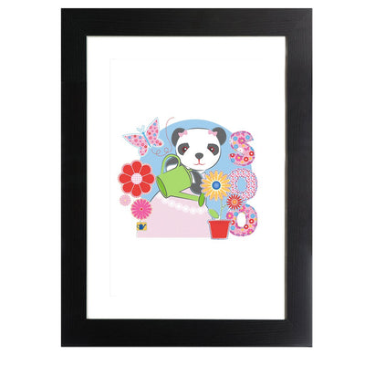 Sooty Soo Watering Flowers Framed Print