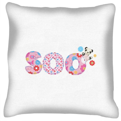 Sooty Soo Floral Text Cushion-Sooty's Shop