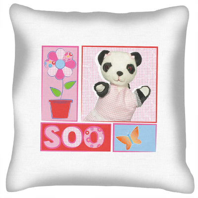 Sooty Soo Floral Retro Cushion
