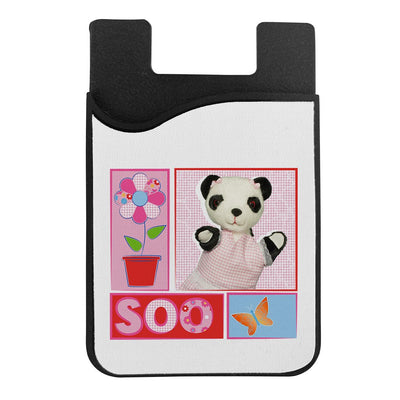 Sooty Soo Floral Retro Phone Card Holder