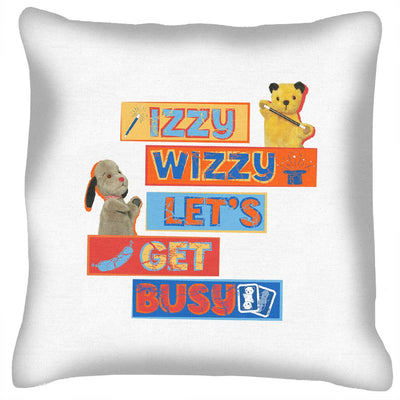 Sooty Izzy Wizzy Let's Get Busy Stacked Cushion