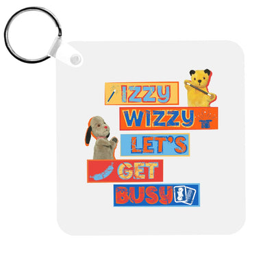 Sooty Izzy Wizzy Let's Get Busy Stacked Keyring