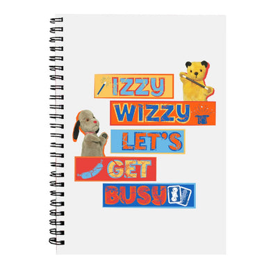 Sooty Izzy Wizzy Let's Get Busy Stacked A5 Spiral Notebook