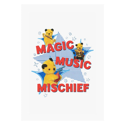 Sooty Magic Music Mischief A3 Print-Sooty's Shop