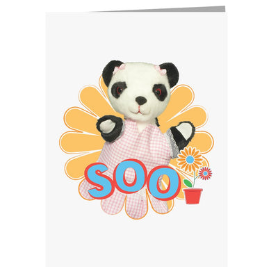 Sooty Soo Retro Flower A5 Greeting Card