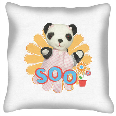 Sooty Soo Retro Flower Cushion