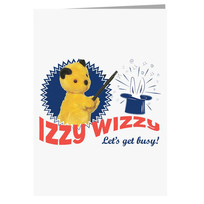 Sooty Izzy Wizzy Let's Get Busy A5 Greeting Card
