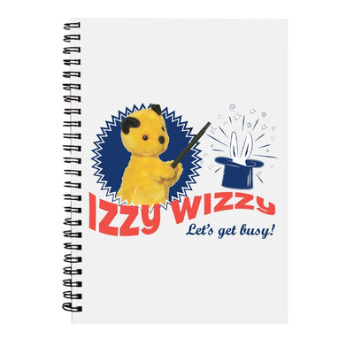 Sooty Izzy Wizzy Let's Get Busy A5 Spiral Notebook
