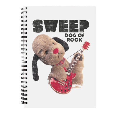 Sooty Sweep Dog of Rock A5 Spiral Notebook