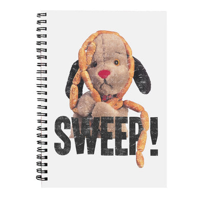 Sooty Sweep's Sausages A5 Spiral Black Text Print Notebook