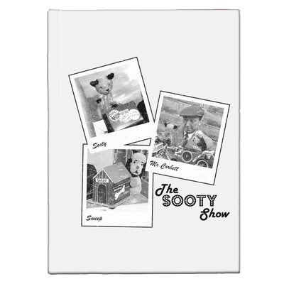 Sooty Show Polaroid A5 Hardcover Notebook
