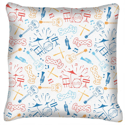 Sooty Rock n Roll Pattern Cushion