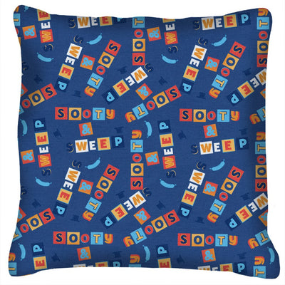 Sooty and Sweep Block Pattern Cushion