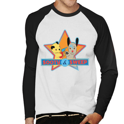 Sooty & Sweep Cartoon Water Sprayer Men's Baseball Long Sleeved T-Shirt-Sooty's Shop