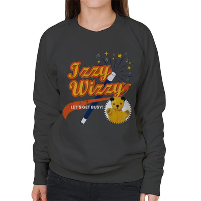 Sooty Magic Wand Izzy Wizzy Let's Get Busy Women's Sweatshirt-Sooty's Shop