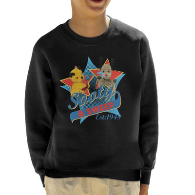 Sooty & Sweep Retro Water Sprayer Kid's Sweatshirt-Sooty's Shop