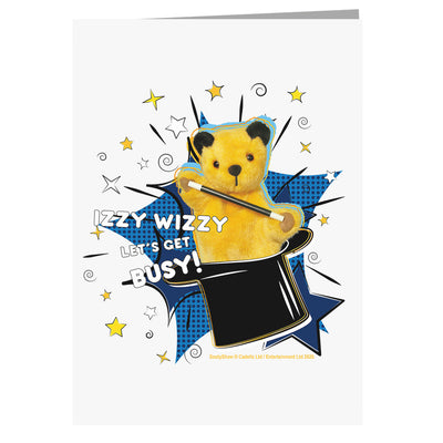 Sooty Izzy Wizzy Magic Hat A5 Greeting Card-Sooty's Shop