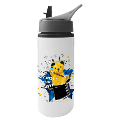 Sooty Izzy Wizzy Magic Hat Aluminium Water Bottle With Straw-Sooty's Shop