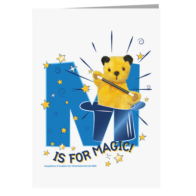 Sooty M Is For Magic A5 Greeting Card-Sooty's Shop