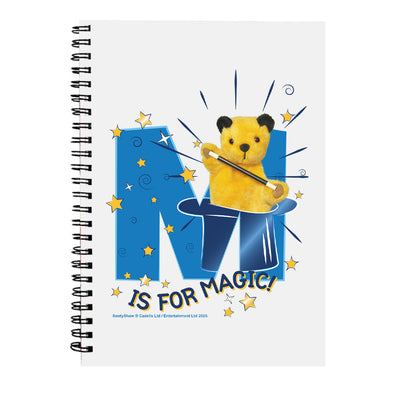 Sooty M Is For Magic A5 Spiral Notebook-Sooty's Shop