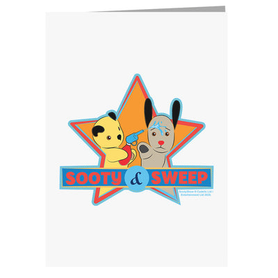 Sooty And Sweep Water Fun A5 Greeting Card-Sooty's Shop