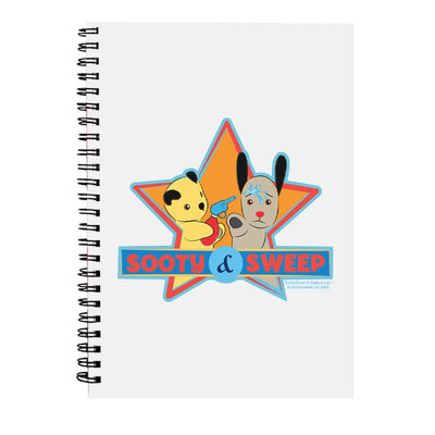 Sooty And Sweep Water Fun A5 Spiral Notebook-Sooty's Shop