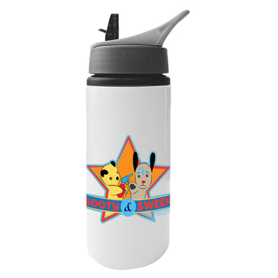 Sooty And Sweep Water Fun Aluminium Water Bottle With Straw-Sooty's Shop