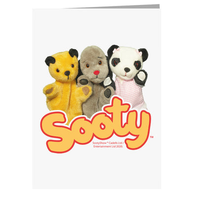 Sooty Sweep And Soo Friends A5 Greeting Card-Sooty's Shop